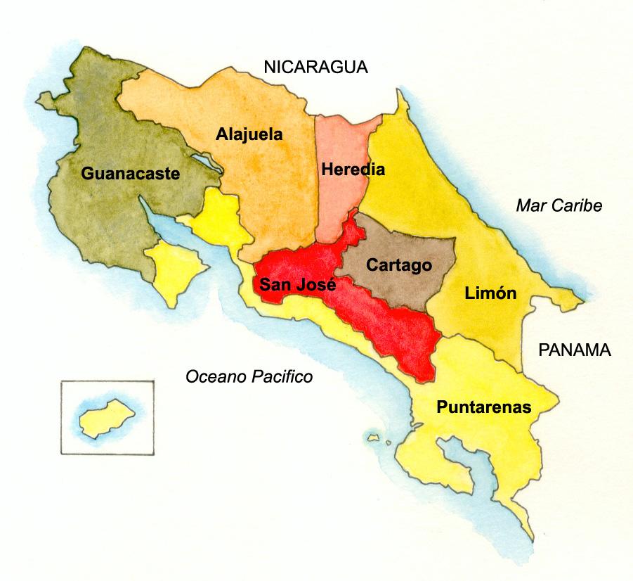 Les 7 provinces du Costa Rica : géographie, histoire, tourisme