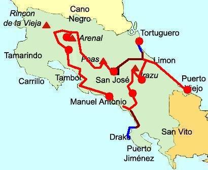 Karibik Karte Deutsch.Reise Durch Costa Ricas Karibik Pazifik Und Hochland